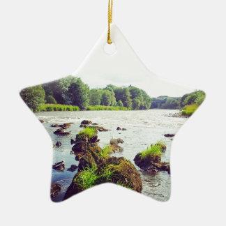 River Tweed Ceramic Star Decoration