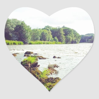 River Tweed Heart Sticker