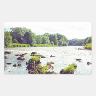 River Tweed Rectangular Sticker