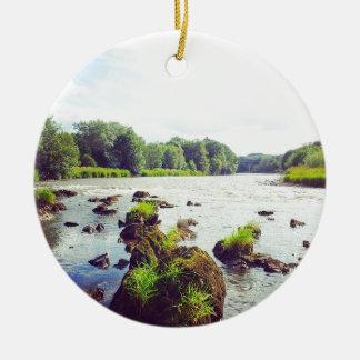 River Tweed Round Ceramic Decoration