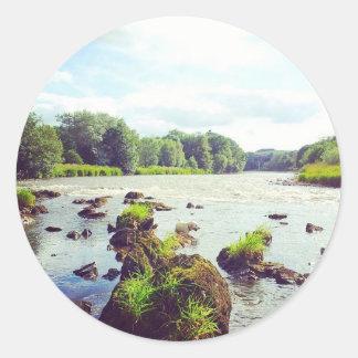 River Tweed Round Sticker