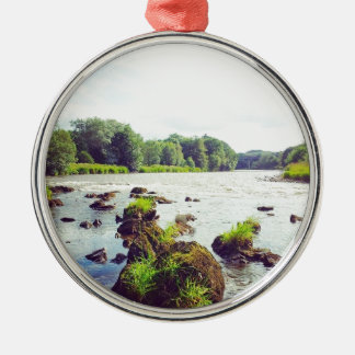 River Tweed Silver-Colored Round Decoration