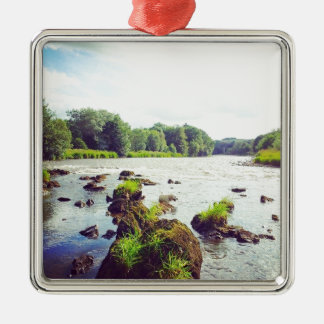 River Tweed Silver-Colored Square Decoration