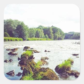 River Tweed Square Sticker