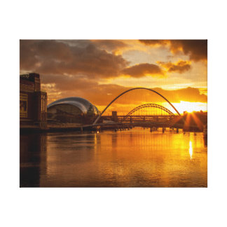 River Tyne at Sunset Canvas Print