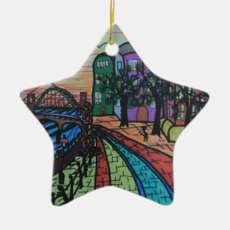 River Tyne Newcastle Quayside Christmas Ornament