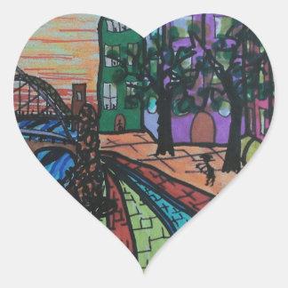 River Tyne Newcastle Quayside Heart Sticker