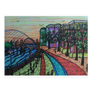 River Tyne Newcastle Quayside Postcard