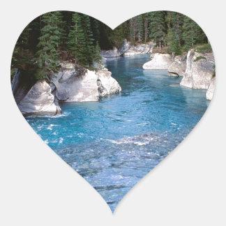 River Vermillion Kootenay Canada Heart Sticker