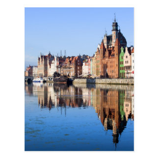 River View of Gdansk in Poland Post Cards