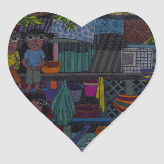 River Village Heart Sticker