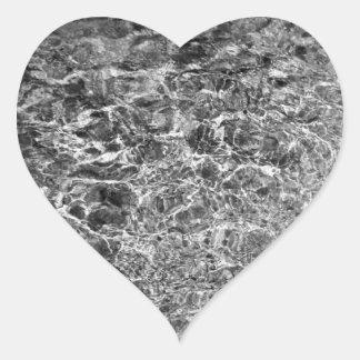 River Water Ripples Heart Sticker