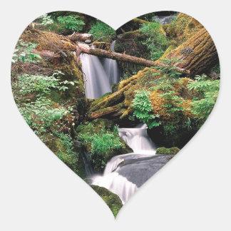 River Watson Umpqua Forest Oregon Heart Sticker
