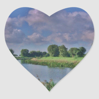 River Welland Heart Stickers