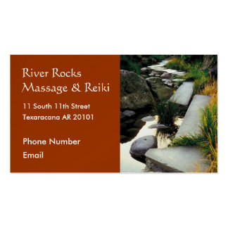 River with rocks business card