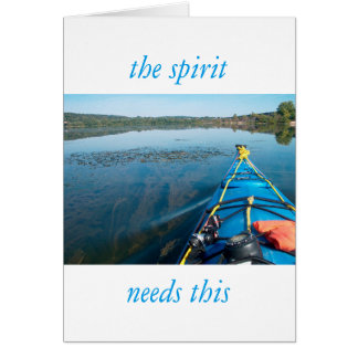 river world greeting card