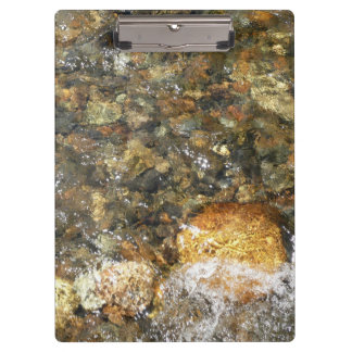 River-Worn Pebbles Brown and Grey Natural Abstract Clipboard