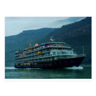 River YANGTZE - China  Vintage BOAT CRUISE Postcard
