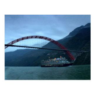 River YANGTZE - China  Vintage Photograph Postcard