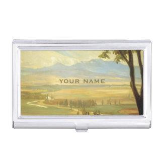 """Rivera's """"Avila Morning"""" business card holder"""
