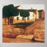 """Rivera's """"Street in Avila"""" art poster"""