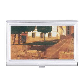 "Rivera's ""Street in Avila"" business card holder"