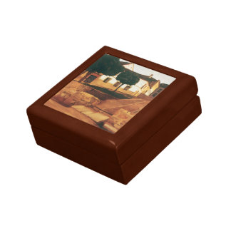 "Rivera's ""Street in Avila"" gift / jewelry box"
