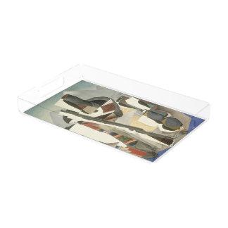 """Rivera's """"Zapata-style Landscape"""" art trays"""