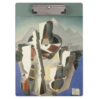 """Rivera's """"Zapata-style Landscape"""" clipboard"""