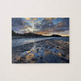 Riverbed of Franz Josef Glacier running into Jigsaw Puzzle
