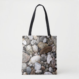 Riverbed Rocks Tote Bag