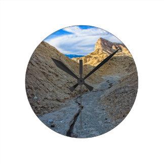 Riverbed view of Zabriskie Point Clock