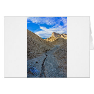 Riverbed view of Zabriskie Point Greeting Card