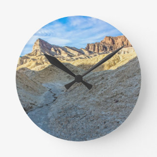 Riverbed view of Zabriskie Point Landscape Format Wall Clock