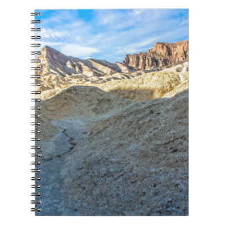 Riverbed view of Zabriskie Point Landscape Format Spiral Note Book