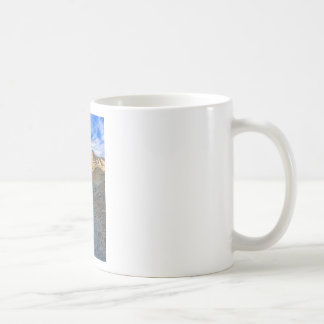 Riverbed view of Zabriskie Point Coffee Mugs