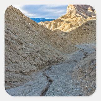 Riverbed view of Zabriskie Point Stickers