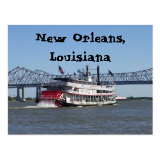 Riverboat in New Orleans Postcard