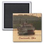 Riverboat on Ohio River Fridge Magnets