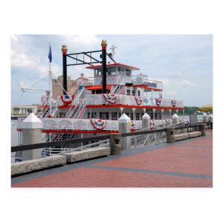 Riverboat Savannah Georgia Postcard