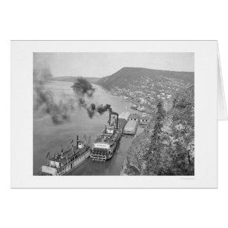 Riverboats Ruby Alaska 1916 Card