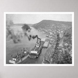 Riverboats Ruby, Alaska 1916 Poster