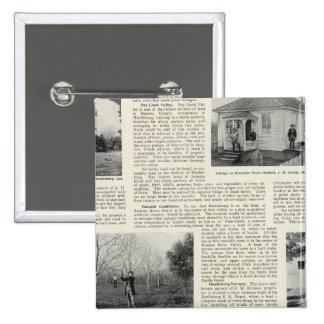 Riverdale Prune Orchard, California 15 Cm Square Badge
