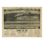 Riverhead New York 1903 Antique Panoramic Map Poster