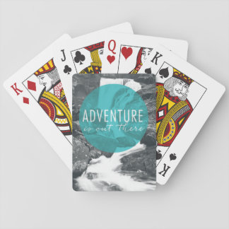 Rivers | Adventure Is Out There Quote Playing Cards