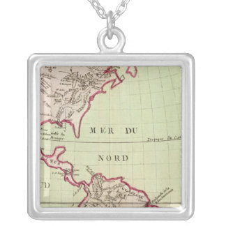 Rivers and Mountains of the Americas Silver Plated Necklace