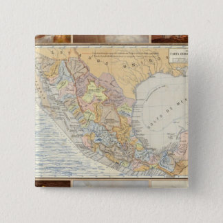 Rivers in Mexico 15 Cm Square Badge