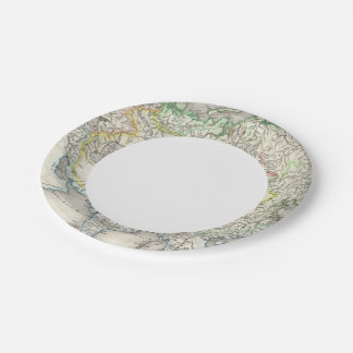 Rivers of Asia Paper Plate