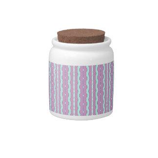 Rivers Pattern Candy Jar