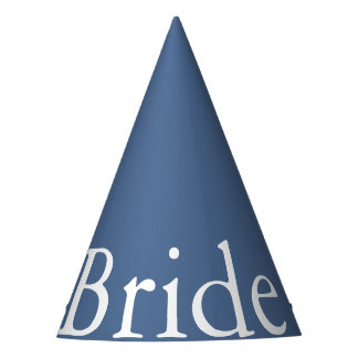 Riverside Blue with White Wedding Detail Party Hat